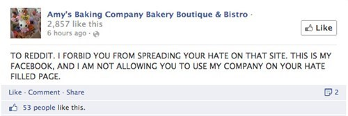 Amy S Baking Company Oder Beware The Redditors Are Coming