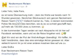 Screenshot: https://www.facebook.com/Neckermann.Reisen